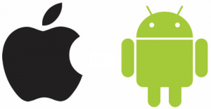 Apple and Android logos