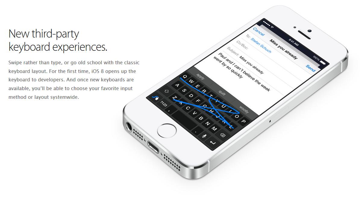 Custom 3rd Party iOS 8 keyboard