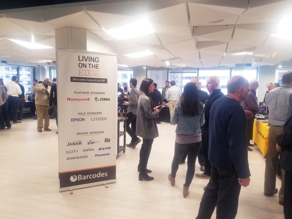 Barcodes Sales Kickoff Living on the edge during the grand showcase where partners are showcasing their products in warehousing and latest mobility solution and a list of all our sponsors