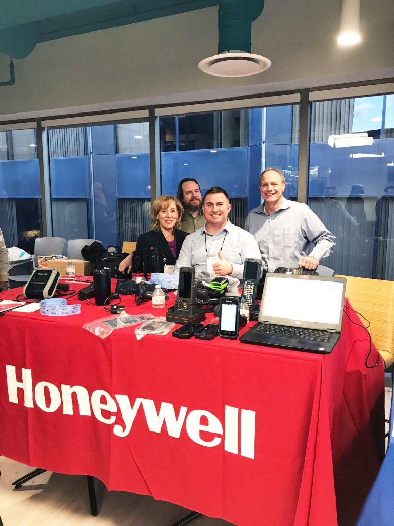 Our platinum sponsor and partners from Honeywell showcasing their latest mobility solutions at Barcodes HQ