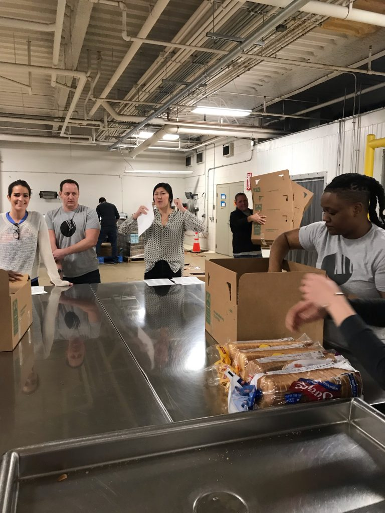 Barcodes volunteers at the Greater Chicago Food Depository