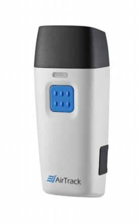 Airtrack's SP1-C pocket wireless 1D mobile barcode scanner.
