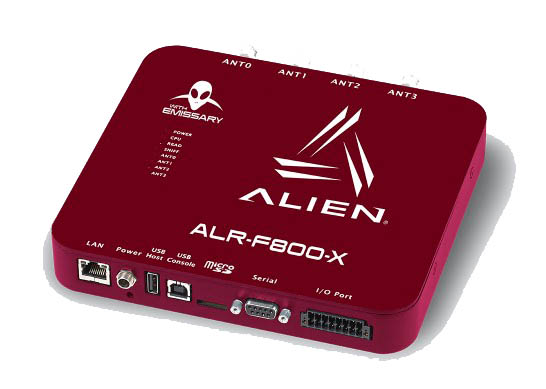 Alien ALR-F800-X with Emissary Enterprise RFID Reader with built in common activities and simplify I/O device workflows