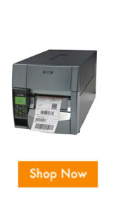 The Citizen CL-S700 industrial barcode label printer that can print up to 10 inches per second.