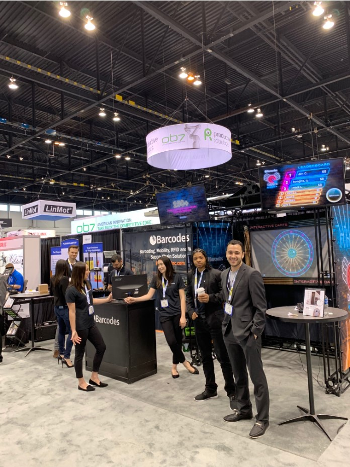 Our Barcodes team at ProMat ready to take on your questions on how to move your business forward. Learn how we can help design, deploy, and support your automated supply chain.