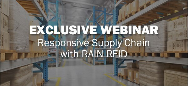 Join Barcodes free exclusive webinar on Responsive Supply Chain with RAIN RFID to drive efficiency with automation.