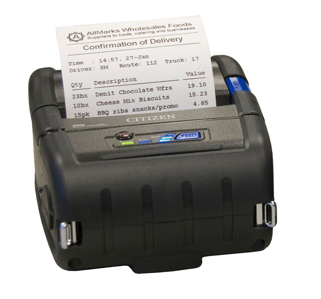Citizen CMP-30II mobile receipt printer speeds up checkout line with capability to run a transaction anywhere in the store.