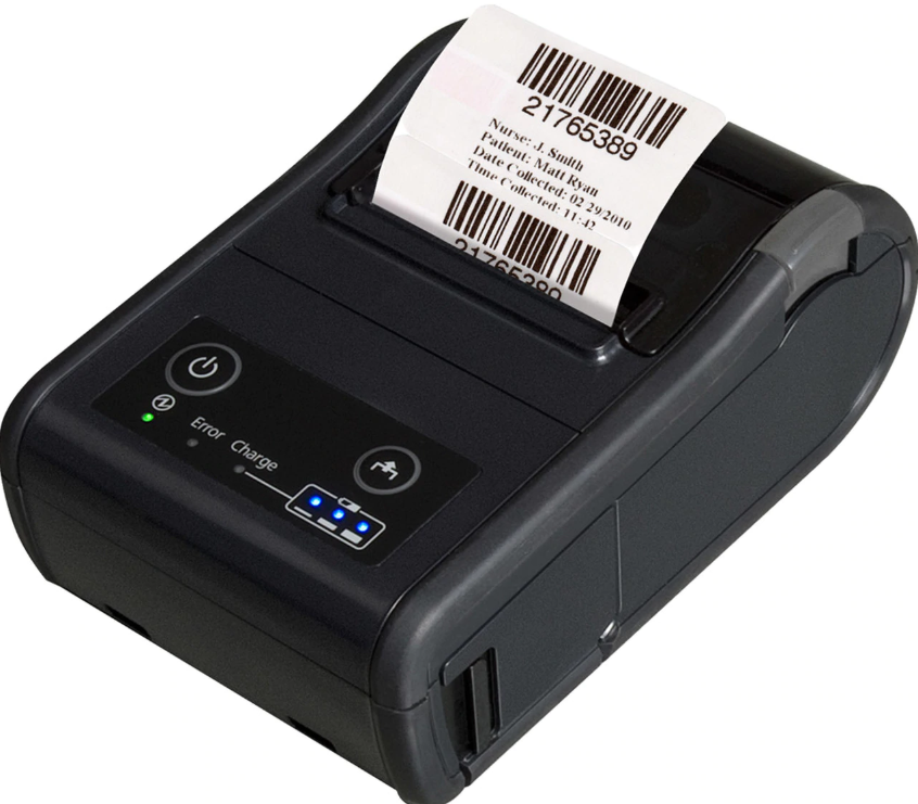 Epson P60II mobile printer enhances employee productivity in store to generate label and receipts.