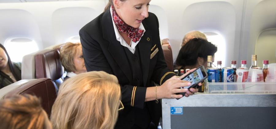 Linea Pro 7 improve flight attendant efficiency in flight and unlock in flight revenue opportunities.